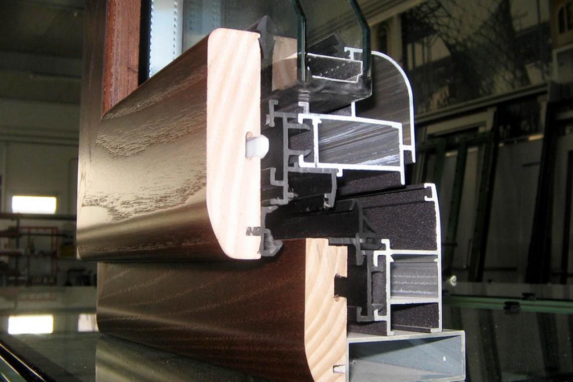 Infissi alluminio-legno 1